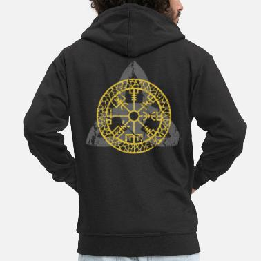 Germanic Tribes Germanic pagans shield - Men's Premium Zip Hoodie