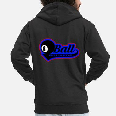 Ball Billiard ball ball - Men's Premium Zip Hoodie