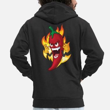 Chilli Pepper Chili pepper spicy food gift idea - Men's Premium Zip Hoodie