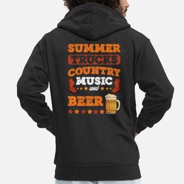 Summer 2019 Country Music Festival Design Country Music Lover - Men's Premium Zip Hoodie