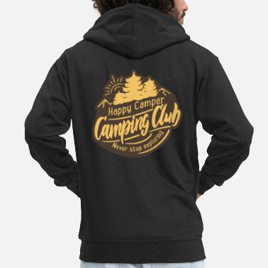 Tent Summer Camping Explore More Camper Fun - Men's Premium Zip Hoodie