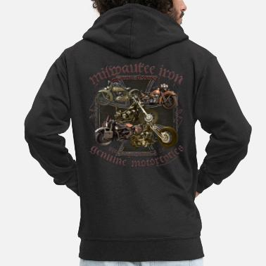Chopper Milwaukee Motorcycles Choppers Biker - Männer Premium Kapuzenjacke