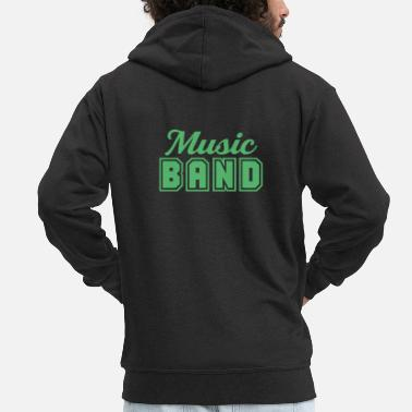 Band Music band band member band band school band - Men's Premium Zip Hoodie
