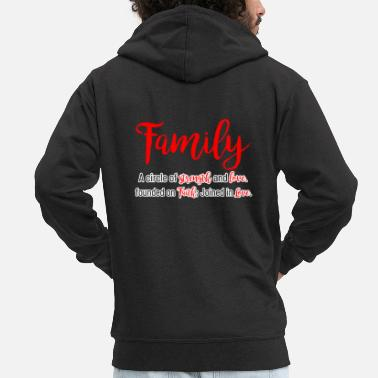 Family Values Family values - Men's Premium Zip Hoodie