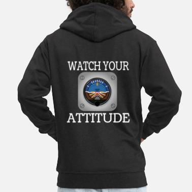 Attitude Watch Your Attitude tee design. Makes an - Men's Premium Zip Hoodie