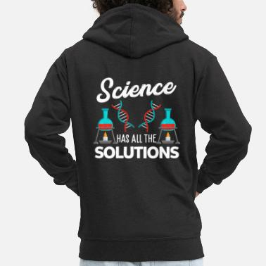 Research Science research experiment - Men's Premium Zip Hoodie