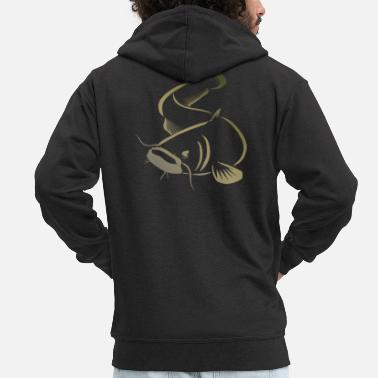 Catfish Catfish catfish fishing - Men's Premium Zip Hoodie