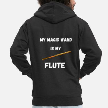 Magic Flute Magic Wands Flute Wind Instrument Magic Wizards - Men's Premium Zip Hoodie