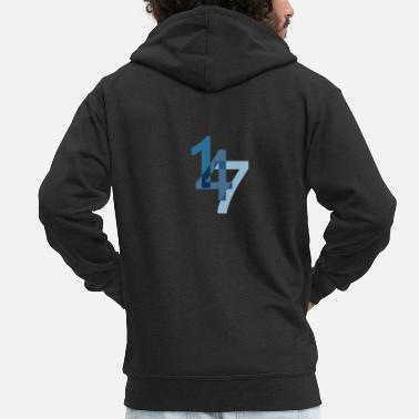 147 Snooker 147 maximum in the break - Men's Premium Zip Hoodie