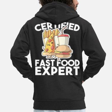 Eyes Funny Sayings Fast Food Pommes Gift - Men's Premium Zip Hoodie