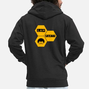 Lan LAN party - Men's Premium Zip Hoodie