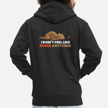 Television Bear Television Lazy Coach Relax Gift - Mannen premium zip hoodie