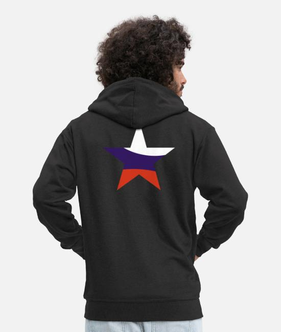 2008 Hoodies & Sweatshirts - star russia - Men's Premium Zip Hoodie black