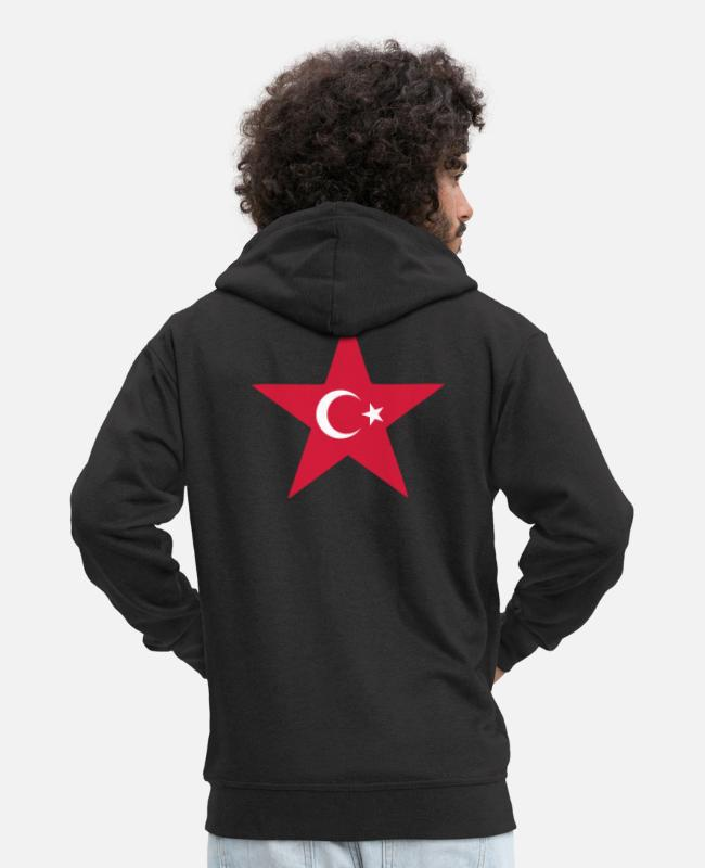 2008 Hoodies & Sweatshirts - turkey_star - Men's Premium Zip Hoodie black