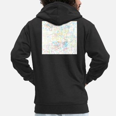 Arrow Arrow arrow - Men's Premium Zip Hoodie