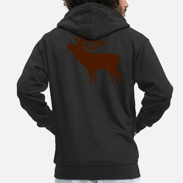 Red Deer Red Deer - Men's Premium Zip Hoodie