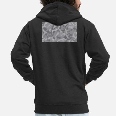 Camoflage Snow Camoflage Digitalized - Men's Premium Zip Hoodie