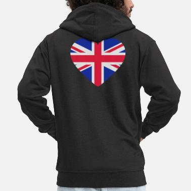 Shape Underwear Heart Britain - Men's Premium Zip Hoodie