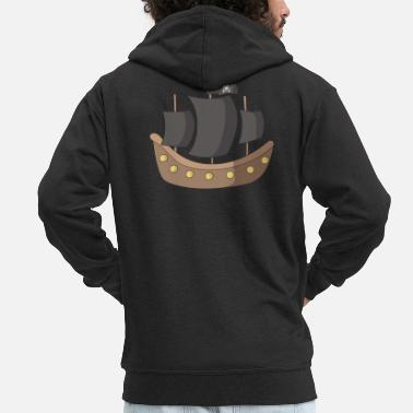 Pirate Ship pirate ship - Men's Premium Zip Hoodie