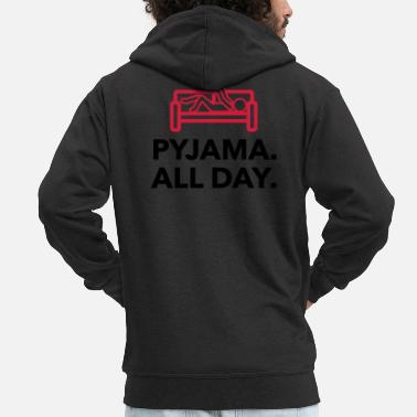 Since Underwear Throughout the day in your pajamas! - Men's Premium Zip Hoodie