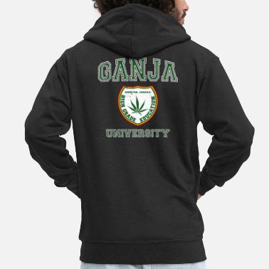 Rude Gal Ganja University - Men's Premium Zip Hoodie