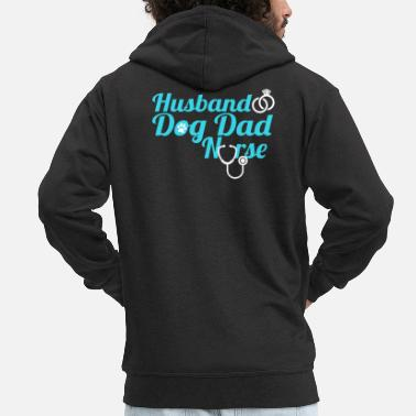 Dad Nurse Husband Dog Dad Nurse - Männer Premium Kapuzenjacke
