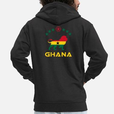 Kumasi Ghana lion design / gift idea - Men's Premium Zip Hoodie