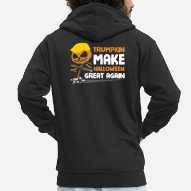 Trumpkin Make Halloween Great Again - Men's Premium Zip Hoodie