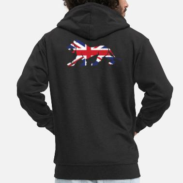 Gb GB Lion - Men's Premium Zip Hoodie