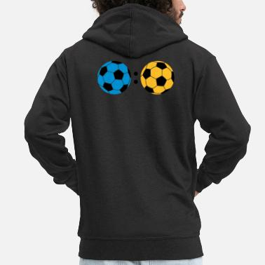 Provocation ball : ball - Men's Premium Zip Hoodie