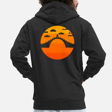 Sunset Sunset, Couple at Sunset - Men's Premium Zip Hoodie