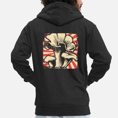 Magic Magic Mushrooms - Men's Premium Zip Hoodie