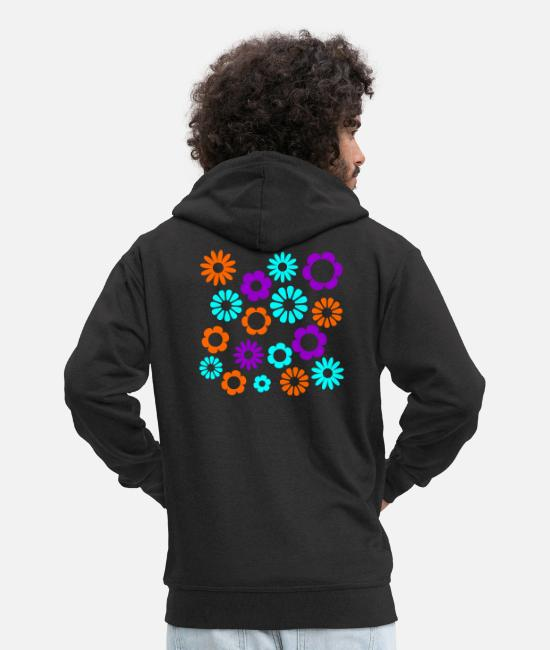 Garden Hoodies & Sweatshirts - Flowers 1 - Men's Premium Zip Hoodie black