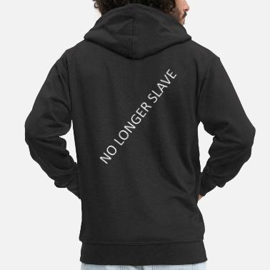 Slave-female No longer slave - Men's Premium Zip Hoodie