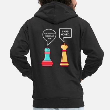 Board Funny chess pieces - Men's Premium Zip Hoodie