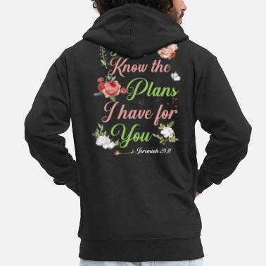 Prayer Christian Bible Verse Religion Rose Flower - Men's Premium Zip Hoodie