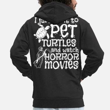 Gore Halloween Pet Watch Horror Movies Turtle - Men's Premium Zip Hoodie