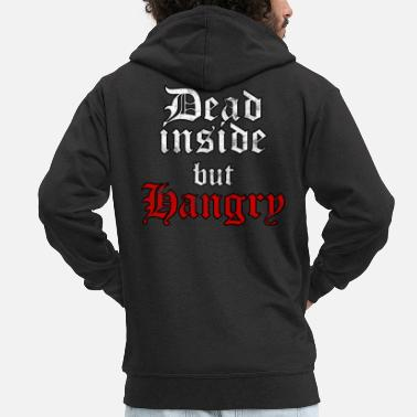 Sad Dead Inside But Hangry Eboy Egirl Soft Grunge - Men's Premium Zip Hoodie