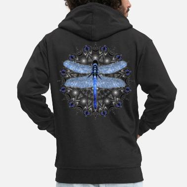 Pattern Dragonfly Clothing Dragonfly Sweatshirt Mandala - Men's Premium Zip Hoodie