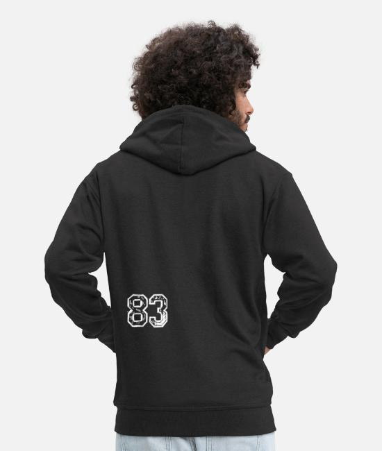 Numero Hoodies & Sweatshirts - Eightythree - Men's Premium Zip Hoodie black