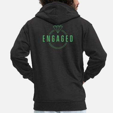 Engagement Engaged engaged engaged - Men's Premium Zip Hoodie