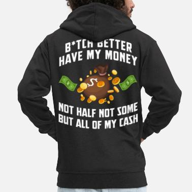 Wealthy Money capitalism investor fortune rich dollar - Men's Premium Zip Hoodie