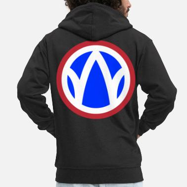 Infantry 89th Infantry Division - Men's Premium Zip Hoodie