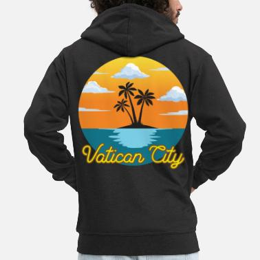 Tourism Vatican City Dream Holidays and Holidays - Men's Premium Zip Hoodie
