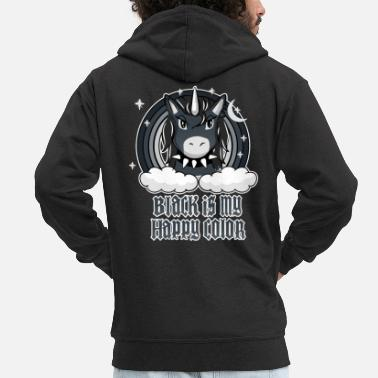 Happy Black is my happy color - Men's Premium Zip Hoodie