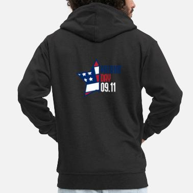 Patriot Day 9/11 Patriot Day - Men's Premium Zip Hoodie