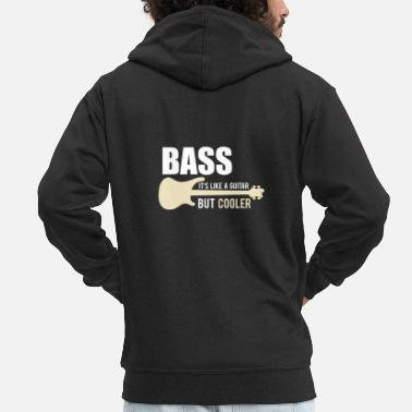 Bass The Bassist Shirt Bass Player Gift Gitaar - Mannen premium zip hoodie