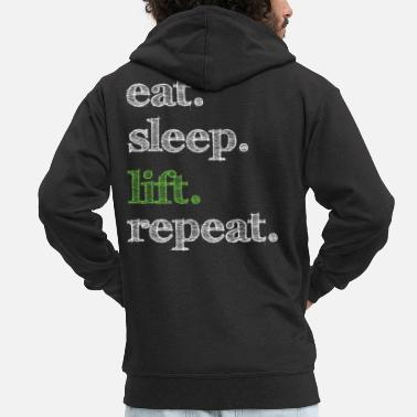 Lifting Weights Lifting weights - Men's Premium Zip Hoodie