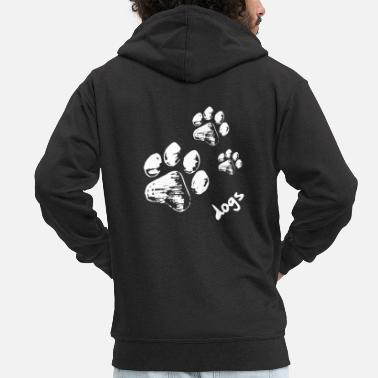 Paw Dog paws - Dogs - Men's Premium Zip Hoodie