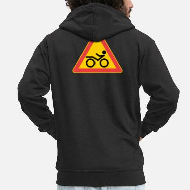 Traffic Sign Traffic sign Recumbent - Men's Premium Zip Hoodie